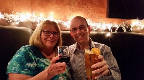 Addison, TX: Having a drink w/ my husband