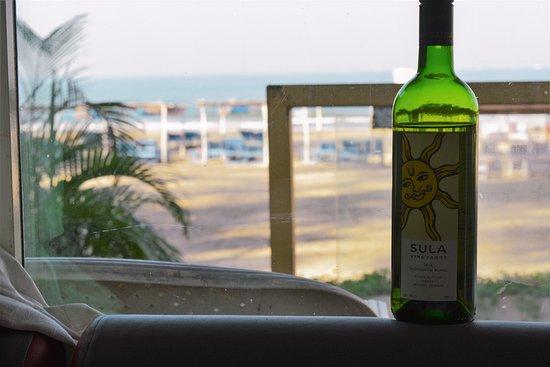 Ashvem Beach, India: Wine as arranged by hotel
