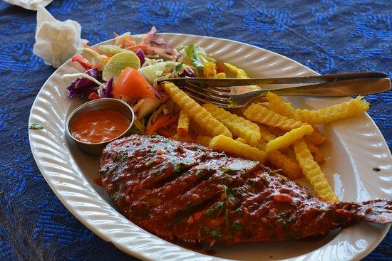 Ashvem Beach, India: Delicious Food