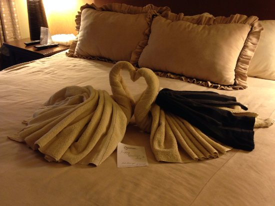 Crested Butte, CO: His and Hers Swans Made From Towels