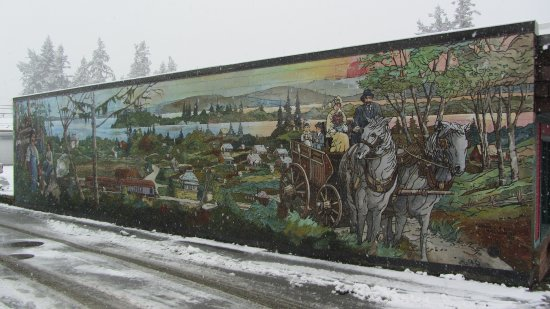 Chemainus, Canadá: One of the murals