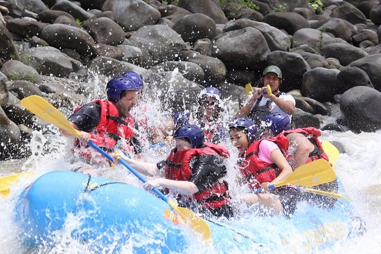 San Pedro, Costa Rica : Action Shot in one of the many rapids.