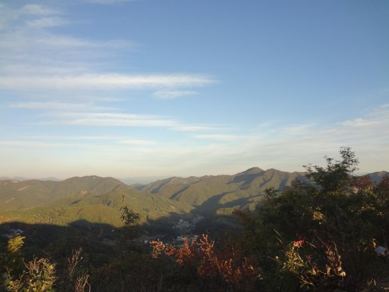 Geumsan-gun, Corea del Sur: Mountain view from Keukgi Peak in Wolmyeongdong