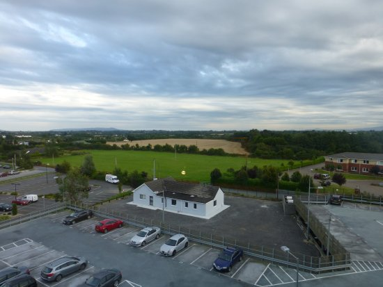 Premier Inn Dublin Airport Hotel: Plenty of parking and view of surrounding countryside