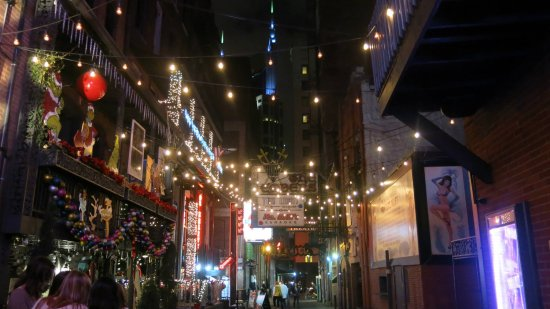 Pretty Lights In Printers Alley Picture Of Bourbon Street