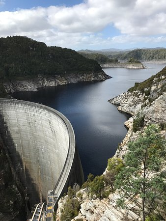 Strathgordon, Australië: Dam wall