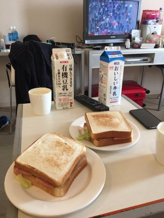 Citadines Karasuma-Gojo Kyoto: living room and TV at background