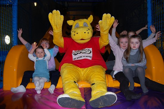 Perth, UK: Hugo our mascot with some krazy kids