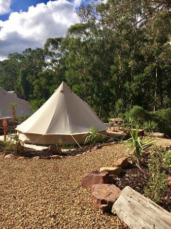 Halls Gap Lakeside Tourist Park: Glamping bell tent