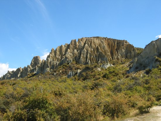 Omarama, Nueva Zelanda: Approaching Clay Cliff