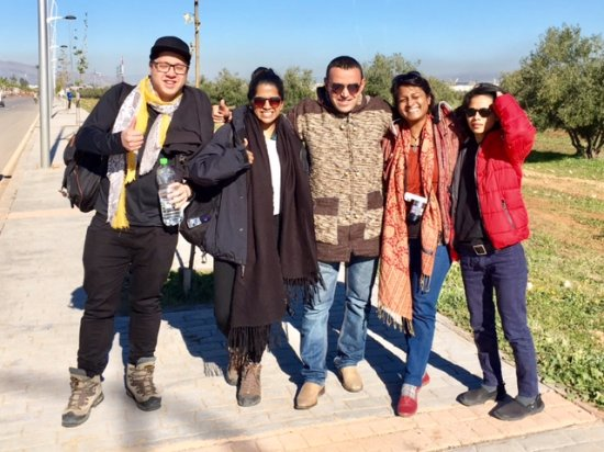 Morocco Explored - Day Tours: Our group with Abder -so sad he had to leave us at Fes!