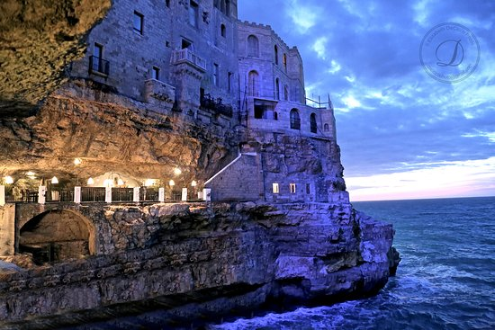 Ristorante Grotta Palazzese Polignano A Mare Restaurant Reviews - Restaurant built inside a cave in italy offers beautiful views as you dine