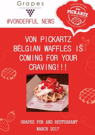 Benoni, Güney Afrika: VON PICKARTZ BELGAIN WAFFFLES COMING TO GRAPES SOON
