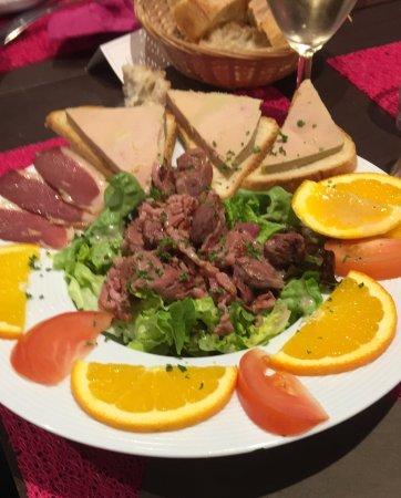 La Forêt-Fouesnant, Francia: Salade périgourdine