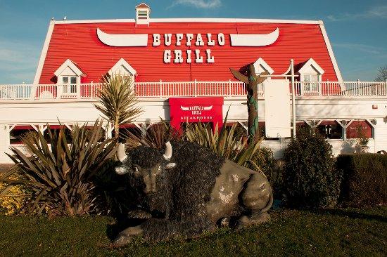 Mondeville, Francia: Restaurant Buffalo Grill Mondevile avec son bison