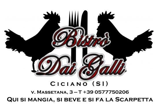 Ciciano, Италия: Bistrò Dai Galli è a 3 km da Chiusdino, con comodo, ampio parcheggio