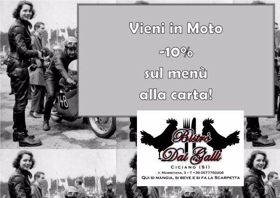 Ciciano, Италия: la nostra, una strada magnifica per i Mototour, -10% (bibite escluse) o menu dedicato su prenota