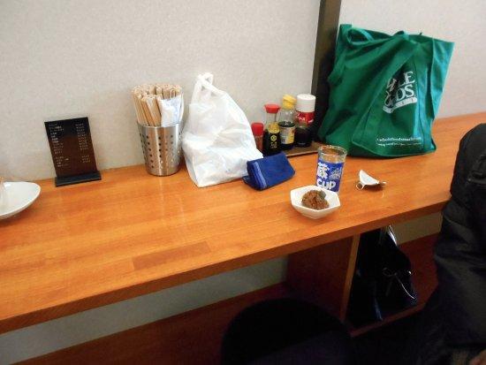 Chikushino, Japan: 我が家が陣取ったカウンター席