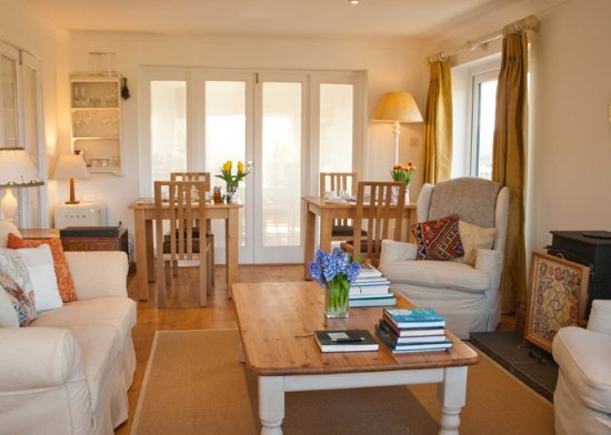 Modern private guest sitting room at Fairways Bed and Breakfast, Crewkerne, Somerset