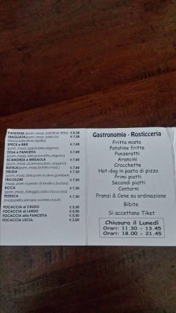 Novate Milanese, Italia: menu