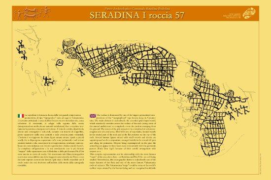 Capo di Ponte, Italia: Parco Seradina-Bedolina: pannello esplicativo