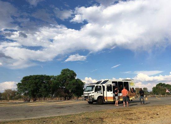 Windhoek, Namibia: 恒例の青空トイレタイム、気分爽快です!