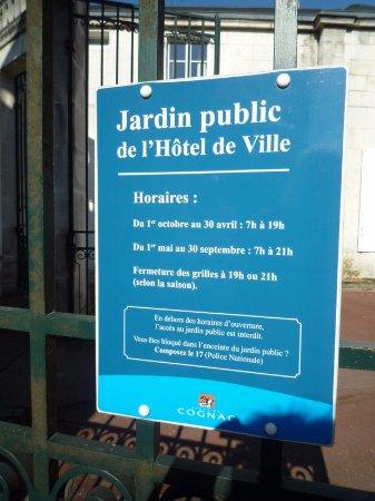Cognac, France: Information board