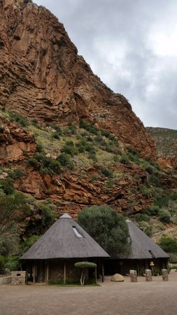 De Rust, South Africa: The main stop with the waterfall, bathroom facilities, and well maintained little history exhibi