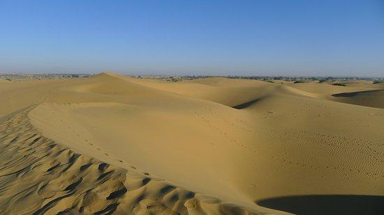 Hotel Manglam: Vue depuis un tour en dromadaire dans le désert