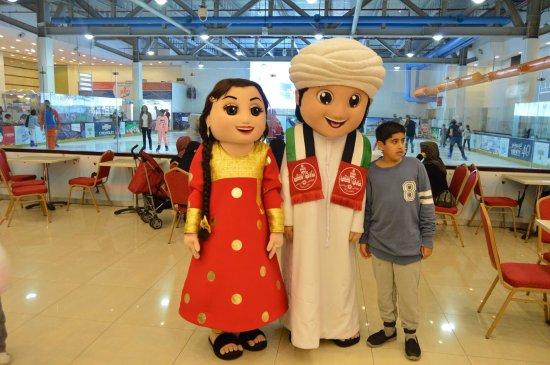 Shoaib & Farfousha- Mascots of Al Shaab Village