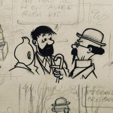 Musée Hergé : Tintin en BD