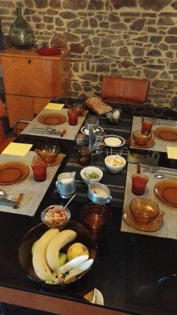 Saint-Germain-Sur-Ay, Frankrike: petit déjeuner