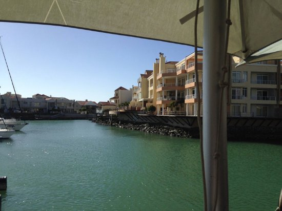 Gordon's Bay, แอฟริกาใต้: View of apartments opposite the venue.