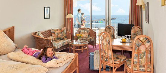Grossenbrode, Germany: Blick aufs Meer im Ostsee-Hotel garni