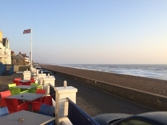 Aldeburgh, UK: On the front terrace before breakfast