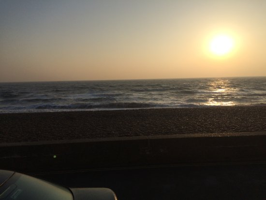 Aldeburgh, UK: View from our table at breakfast