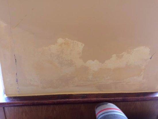 Bridgnorth, UK: Damp and flaking paintwork.
