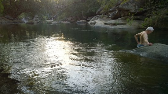 Rancho Curubande' Lodge: Private swimming hole on a beautiful river