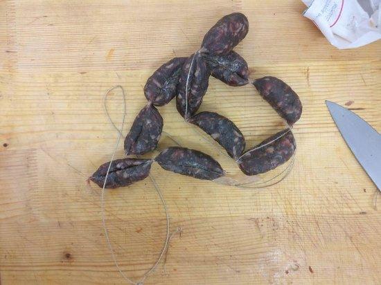 Sant'Angelo in Vado, Italie : Salsicce di Cinghiale