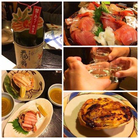 蟹と日本酒と