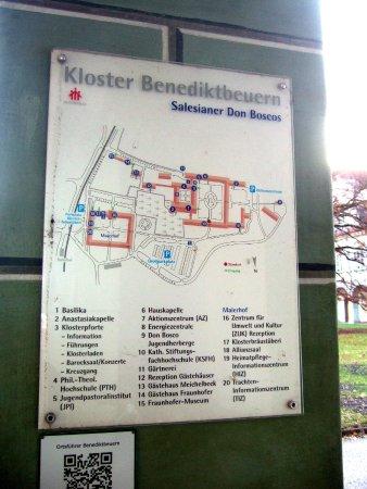 Benediktbeuern, Niemcy: Lageplan der Anlage