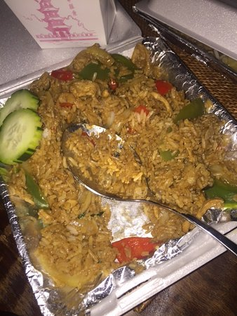 Murrieta, CA: Spicy Thai Fried Rice with Chicken - Mild