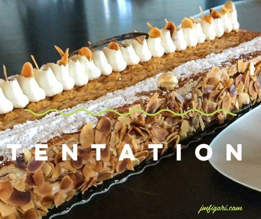 Figari, France: Comme c'est l'heure du goûter, on vous tente à nouveau avec ce millefeuille caramel au beurre sa