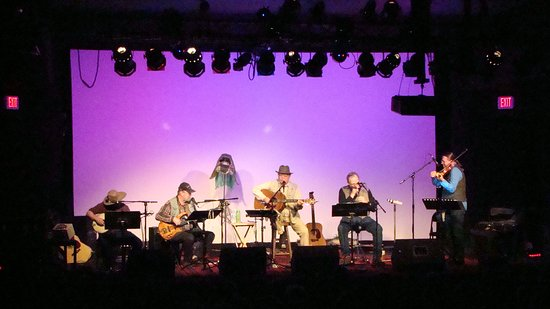Hayward, WI: Warren Nelson (seated at center) performs at the Park Theatre