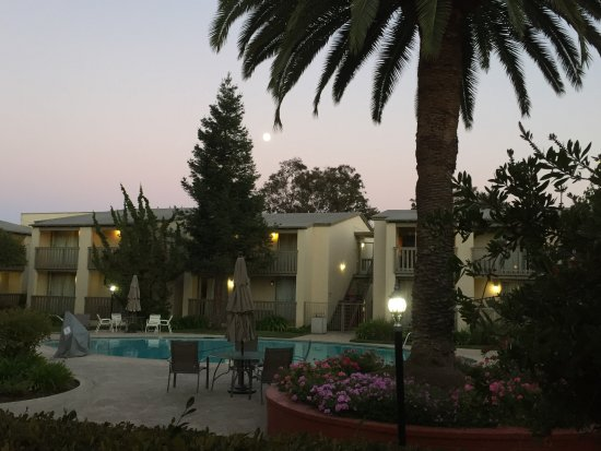 Redwood City, Kalifornia: Pool area in the evening