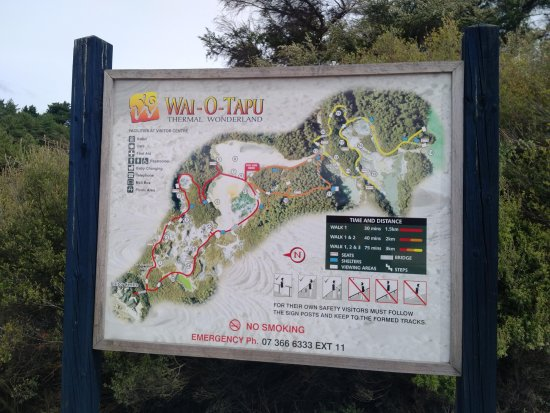 Wai-O-Tapu Thermal Wonderland: Map of the entire park
