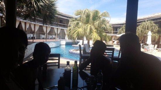 Perola Buzios Hotel: en el bar de la pile