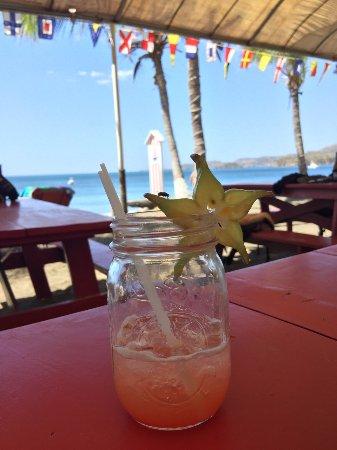 Playa Potrero, Costa Rica: Pre sail beverage