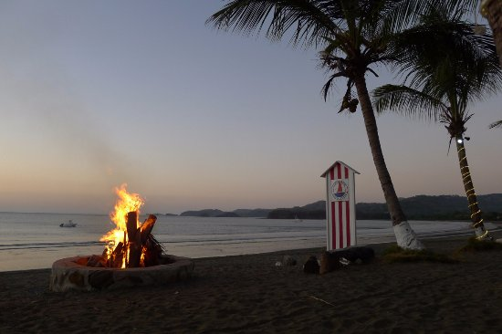 Playa Potrero, Costa Rica: In our chairs enjoying the sunset