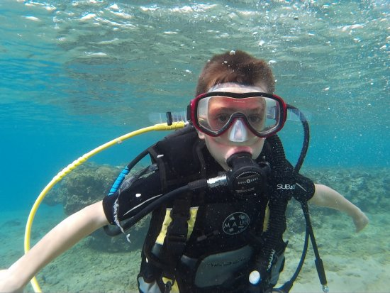 Aqaba Pro Divers: One of our youngest divers :)